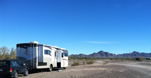 Scaddan Wash BLM Dispersed Camping at Quartzsite