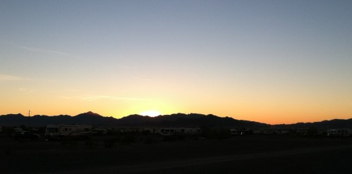 Sunset in Quartzsite