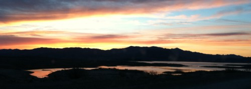 Sunrise Over Lake Mead