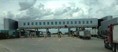 US/Canada Border Crossing south of Winnipeg, Canada