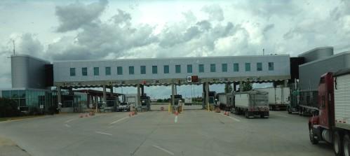US/Canada Border Crossing south of Winnipeg, Canada
