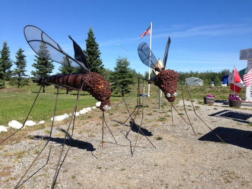 Mosquito Sculptures at Delta Junction