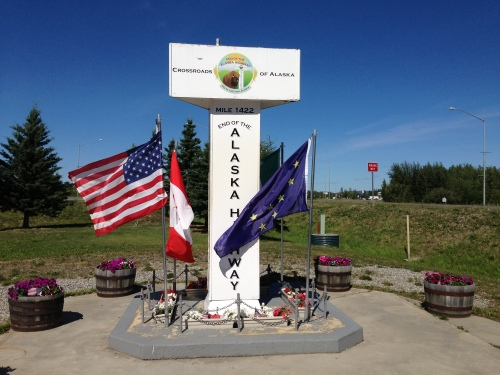 The End of the Alaska Highway at Delta Junction