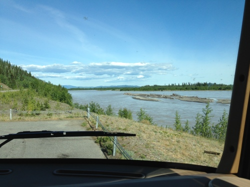 Roadside pull-out south of Fairbanks, AK