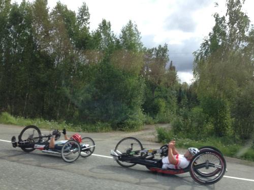 hand-cycle race