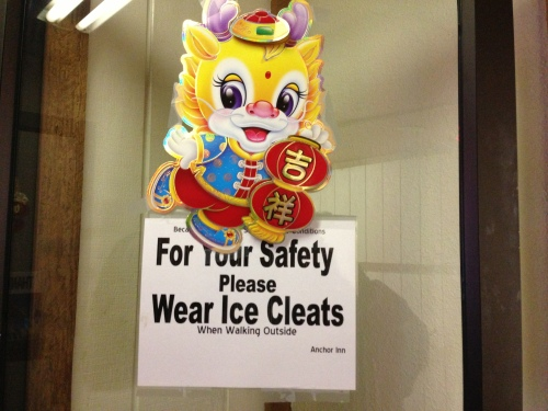 Wear Ice Cleats