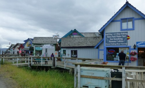 Some of the Tour, Charter, and Gift Shops on the Homer Spit, AK