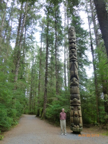 One of Several Totem Poles Along the Trail at Sitka National Historical Park
