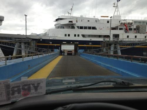 Boarding the Matanuska