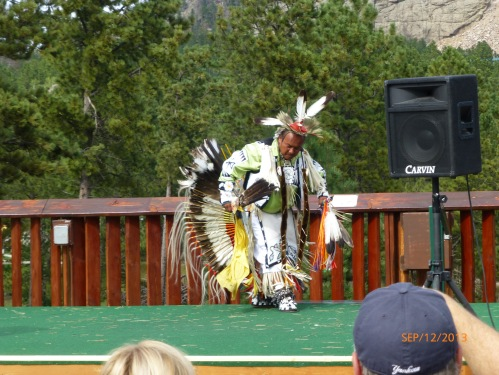 Native American Dancer Jumping Buffalo