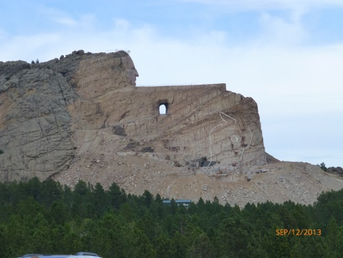 Crazy Horse Memorial in Progress