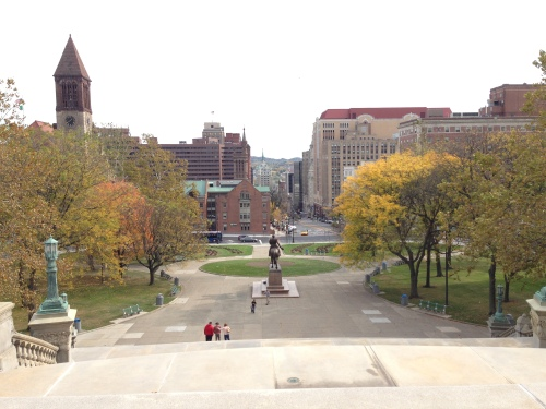 View from New York State Capitol Building in Albany