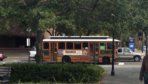 Free Trolley at Charleston