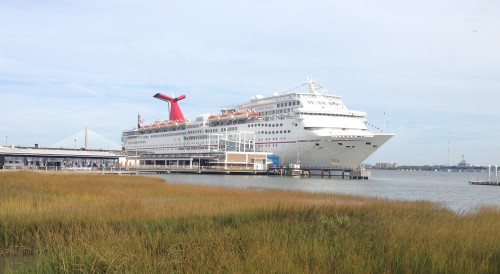 Carnival Cruise Ship at Charleston