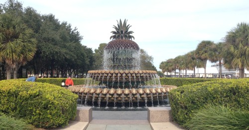 Pineapple Fountain at Waterfront Park in Charleston, SC