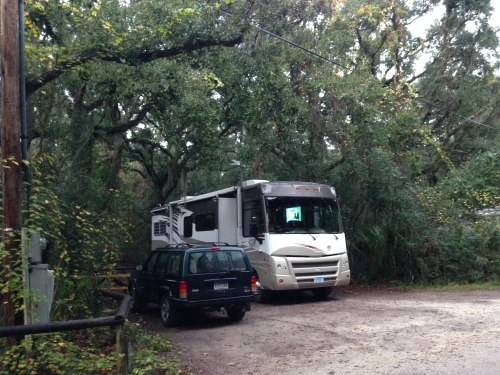 Amelia River Campground, #47, Fort Clinch State Park