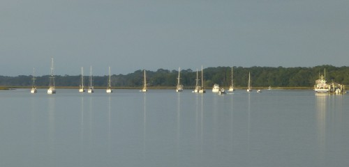 Sailboats at Cumberland Island