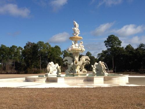 Fountain at Barber Marina in Alabama