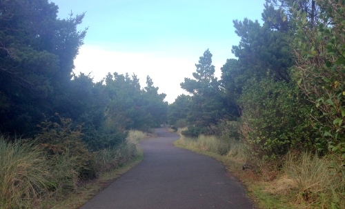 Paved Interpretive Trail at South Beach State Park, OR.