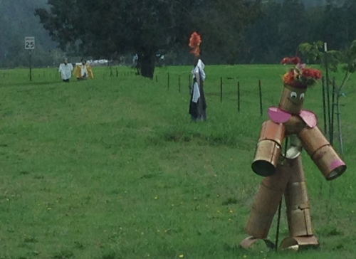 Scarecrows Line the Streets