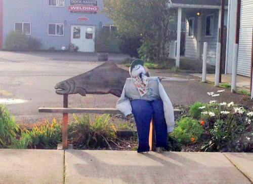 Scarecrow on Bench