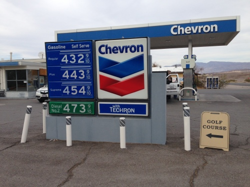 Gas Price at Furnace Creek in Death Valley