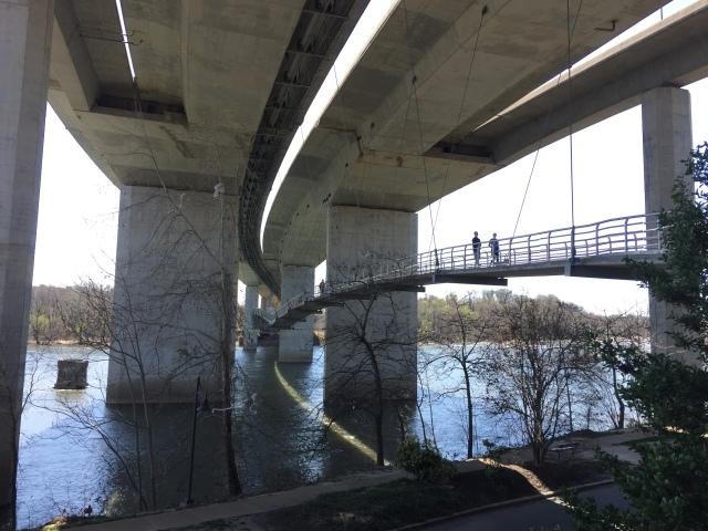 Belle Isle Suspension Bridge in Richmond VA