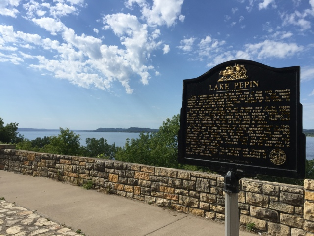 Lake Pepin on the Mississippi River in Minnesota