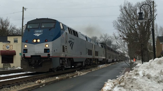 Amtrak Auto Train Passing Through Ashland, Virginia (Photo Tom